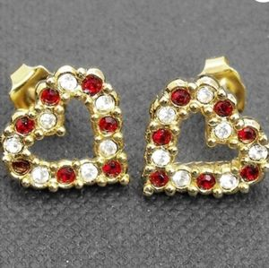 Avon heart shaped stud earrings
